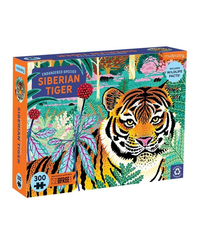 Mudpuppy   Puzzle   Endangered Species   Siberian Tiger   300 stukjes   7+