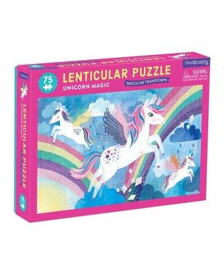 Mudpuppy Mudpuppy   Lenticulair Puzzle   Unicorn Magic   75 stukjes   5+