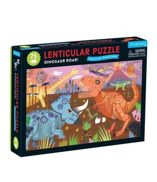 Mudpuppy Mudpuppy   Lenticulair Puzzle   Dinosaur Roar   75 stukjes   5+