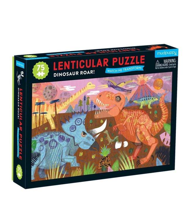 Mudpuppy   Lenticulair Puzzle   Dinosaur Roar   75 stukjes   5+