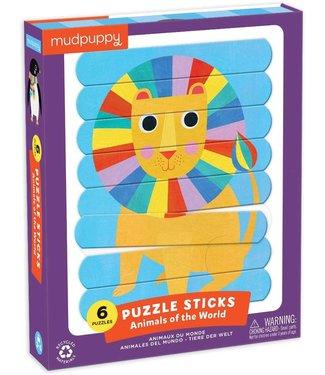 Mudpuppy Mudpuppy | Puzzle Sticks | Animals of the World | 24 delig | 3+
