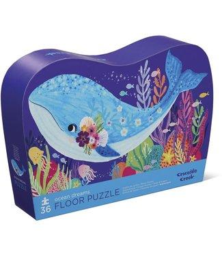 Crocodile Creek Crocodile Creek | Shaped Box Floor Puzzle | Ocean Dreams | 36 delig | 3+