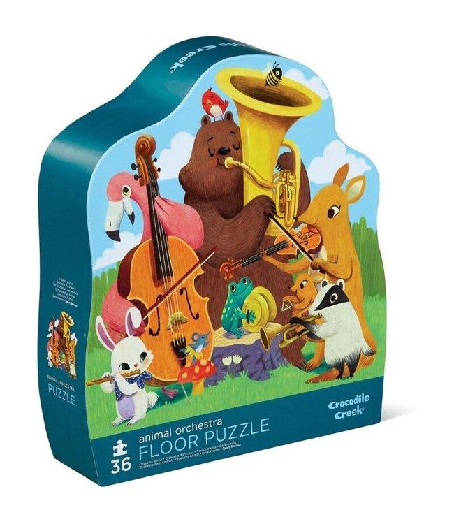 Crocodile Creek | Shaped Box Floor Puzzle | Animal Orchestra | 36 delig | 3+