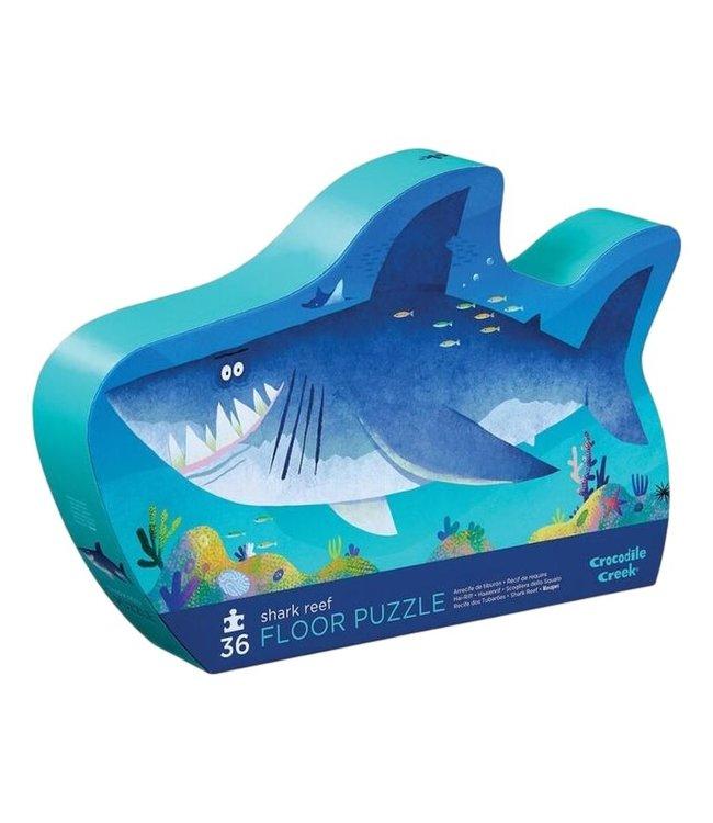 Crocodile Creek | Shaped Box Floor Puzzle | Shark Reef | 36 delig | 3+