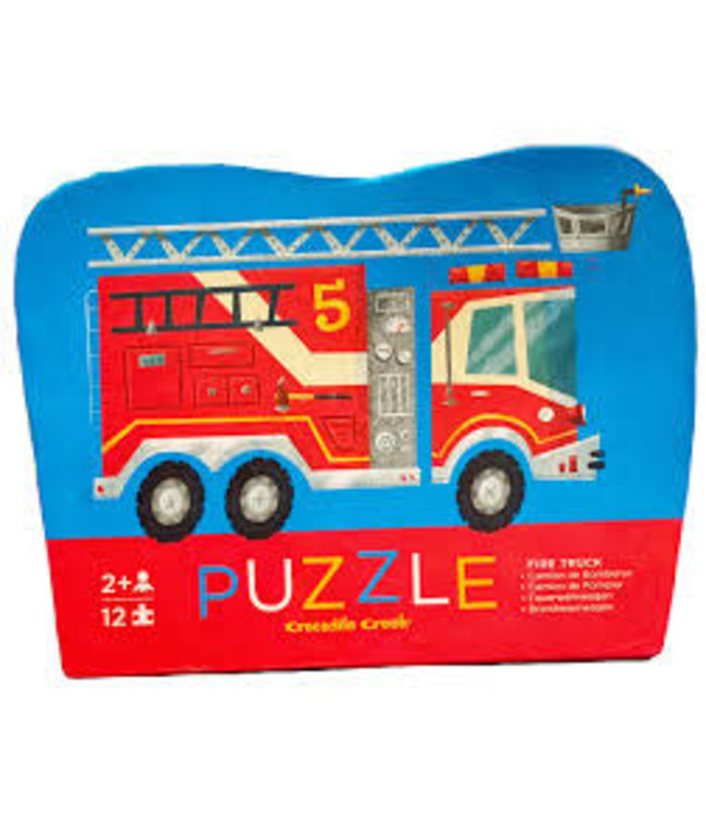 Crocodile Creek | Mini Shaped Puzzle | Fire Truck | 12 stukjes | 2+