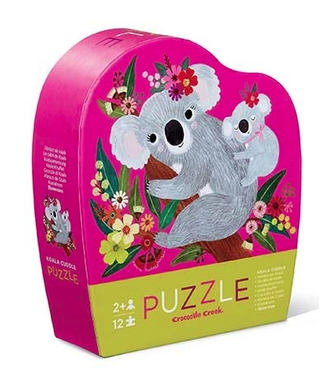 Crocodile Creek Crocodile Creek | Mini Shaped Puzzle | Koala Cuddle | 12 stukjes | 2+