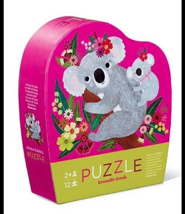 Crocodile Creek | Mini Shaped Puzzle | Koala Cuddle | 12 stukjes | 2+