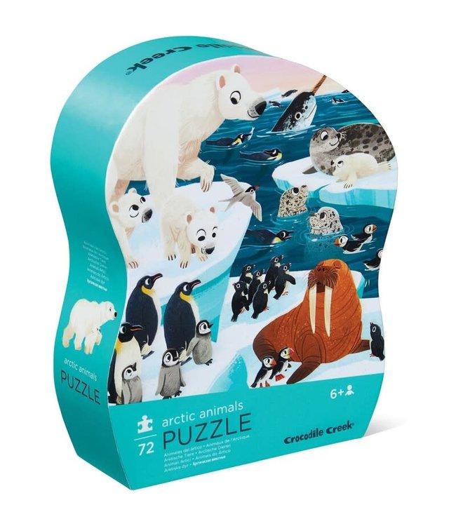 Crocodile Creek | Shaped Box Puzzle | Arctic Animals | 72 delig | 5+