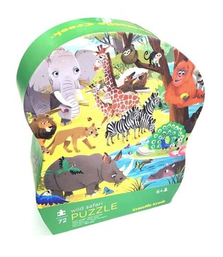 Crocodile Creek Crocodile Creek | Shaped Box Puzzle | Wild Safari | 72 delig | 5+