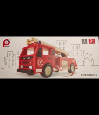Pin Toys Pin Toys   Fire Truck   Houten Brandweerwagen  3+
