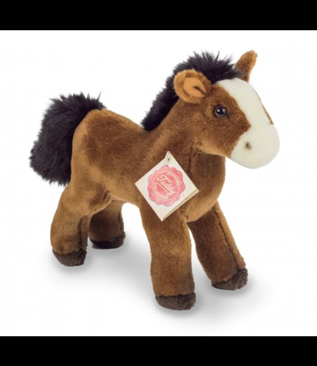 Hermann Teddy | Pluche Paard | Kastanje | 19 cm