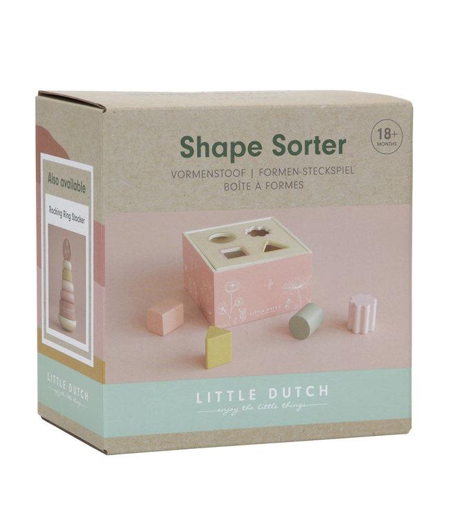 Little Dutch |  Houten Vormenstoof | Roze | 1+