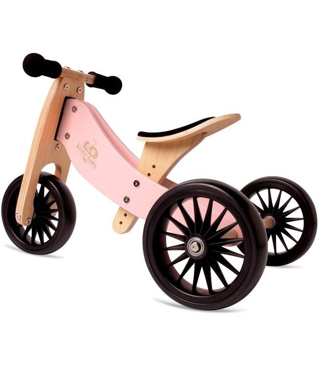 Kinderfeets   Tiny Tot Plus   2  in 1   Tricycle/Balance Bike   Rose   + 18 mnd