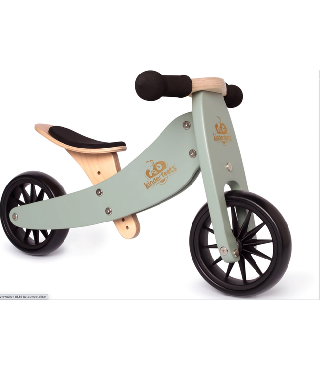 Kinderfeets | Tiny Tot | 2 in 1 | Tricycle/Balance Bike | Sage | 1+
