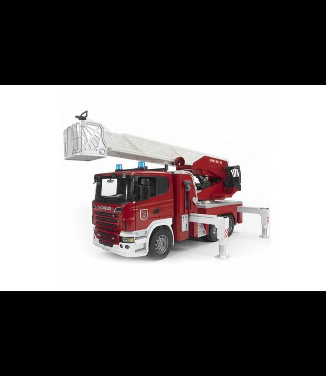 Bruder | Scania | Brandweer | Ladderwagen met Waterpomp | 4+