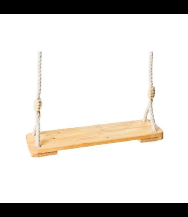Houten Geoliede Plankschommel  Max Ophanghoogte 3 mtr
