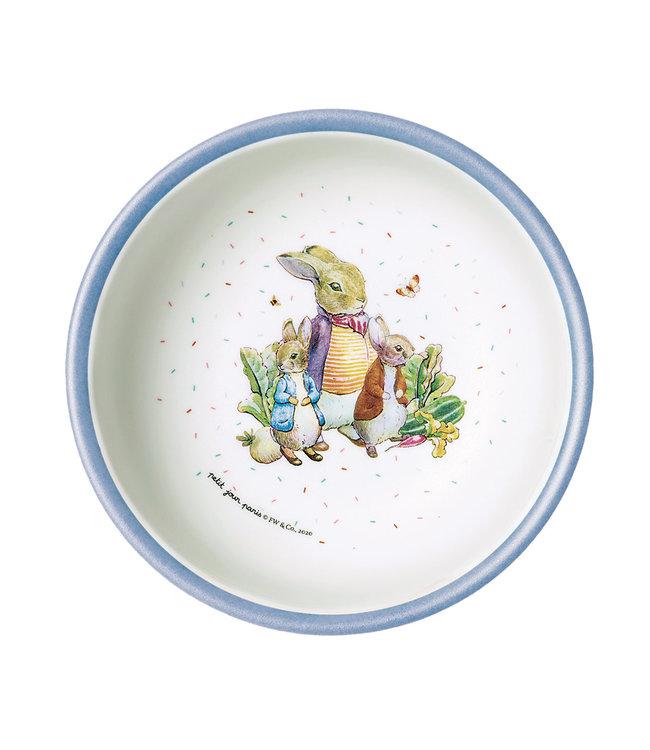 Petit Jour Paris   Peter Rabbit   Schaaltje met Blauwe Rand   250 ml    + 6 mnd