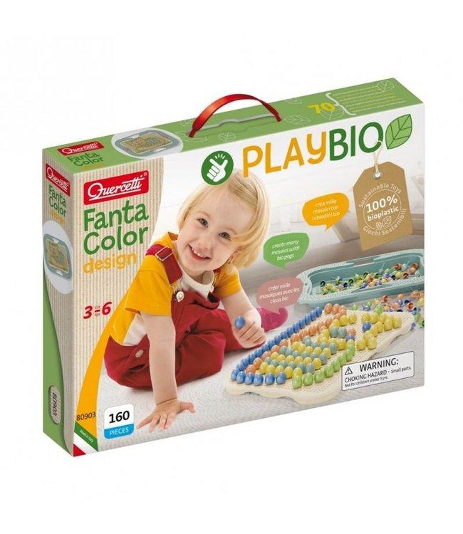 Quercetti | Play Bio | FantaColor Baby Insteekmozaïek | 160 delig | 3 - 6 jaar