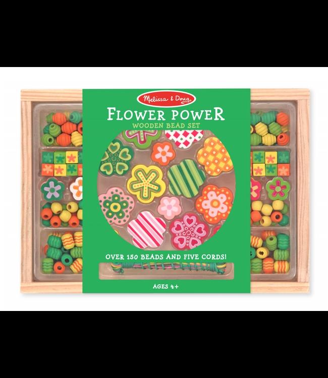 Melissa and Doug | Wooden Bead Set | Flower Power | 4+