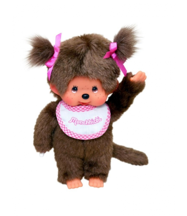 MONCHHICHI   Meisje met Roze Slab   20 cm   2+