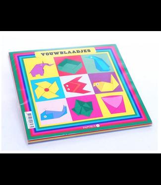 Vouwblaadjes | 5 Kleuren | 16 x 16 cm  | 90 vel