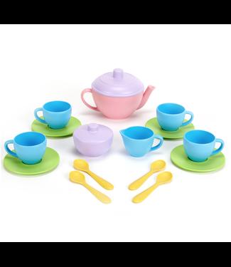 Green Toys Green Toys | Tea Set | Pink Teapot | 2+