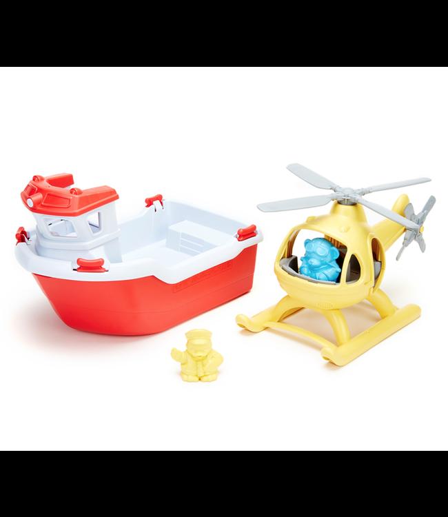 Green Toys | Reddingsboot met Helikopter |  2+
