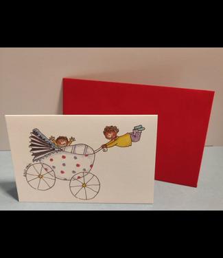Birgitta Cards | Dubbele Kaart | Geboorte Kaartje | Joepie, een 2e kindje !
