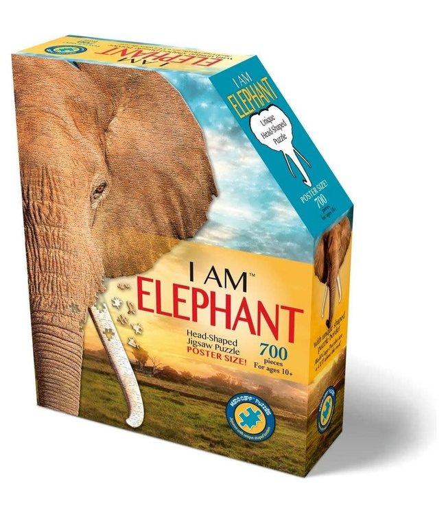 I Am Elephant   Head Shaped Jigsaw Puzzle   700 stukjes    10+