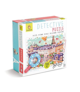 Ludattica Ludattica Puzzel   Detective Puzzel   de Stad   108 stukjes   5+