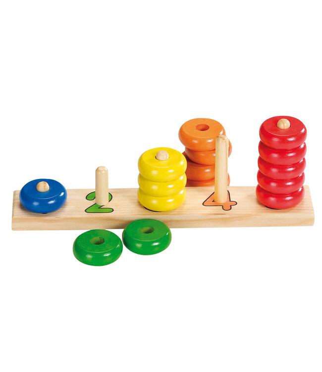 Goki | Learn To Count | Wooden Rings | Telringen | 2+