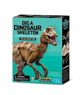 4M 4M | KidzLabs | Graaf je dinosaurus op | Velociraptor | 8+