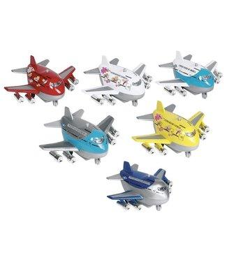 Goki | Metalen Vliegtuig met Geluid | 9 cm | 3+