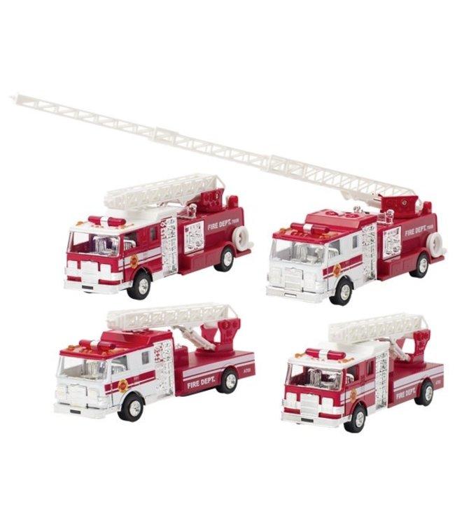 Goki   Metalen Brandweerwagen met Licht en Geluid   17,5 cm   3+