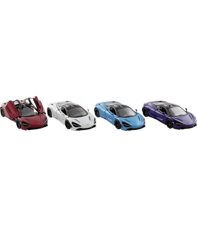 Goki | Metalen Auto | Pull back | Mc Laren 720S | 1:36 | 12,5 cm | 3+