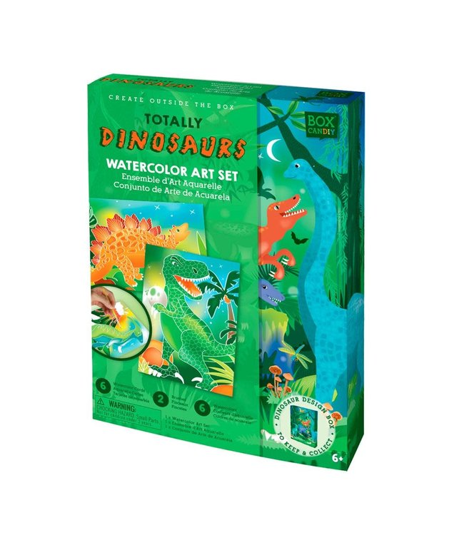 Box Candiy   Totally Dinosaur   Aquarel   Kunst Set   6+