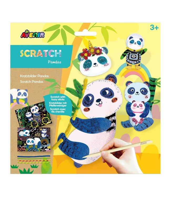 Avenir Scratch Junior | Chenille | Panda's | 3+