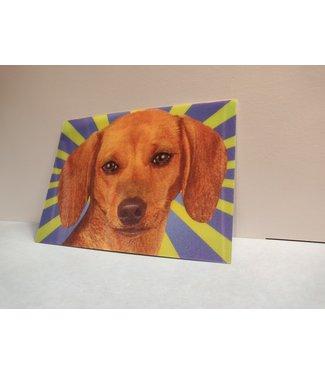 Lenticulaire Kaart Bewegend | Lieve Hond met Twinkelend Oog