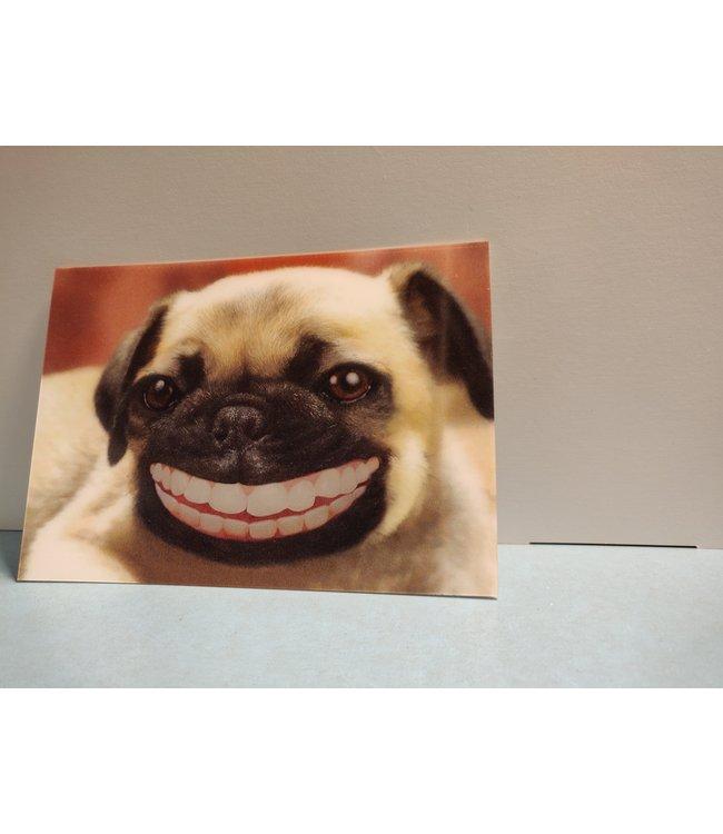 Lenticulaire Kaart Bewegend   Lachende Hond