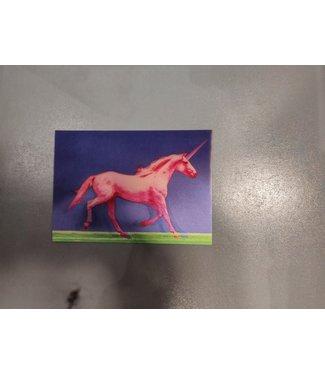 Lenticulaire Kaart Bewegend | Roze Eenhoorn