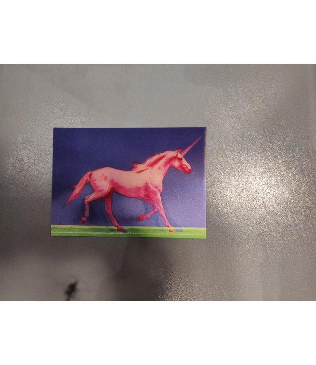 Lenticulaire Kaart Bewegend   Roze Eenhoorn