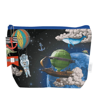 Loco Lama | Katoenen Etui | Space - Astronaut - Kids | 26 x 19 cm