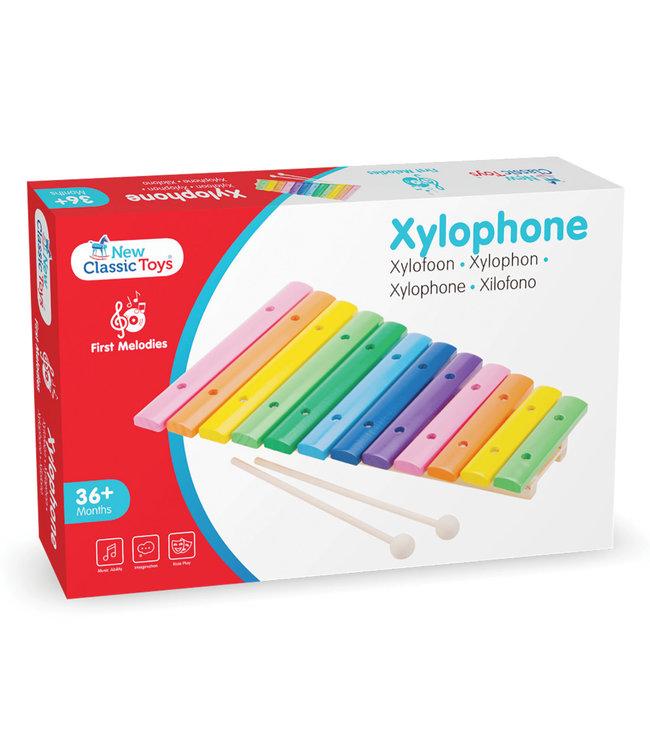 New Classic Toys | Houten Xylophone | Veelkleurig | 12 Tonen |  2+