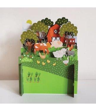 Alljoy Design   3D   Pop-up Kaart   Boerderij