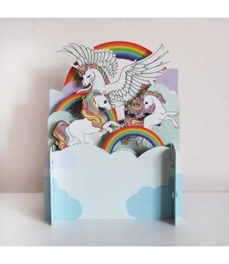 Alljoy Design | 3D | Pop-up Kaart | Pegasus - Unicorn