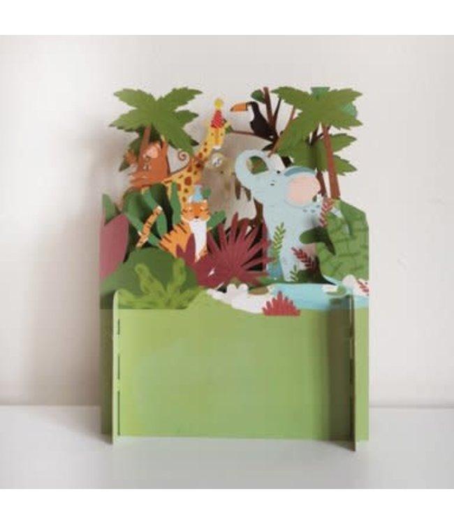 Alljoy Design | 3D | Pop-up Kaart | Jungle