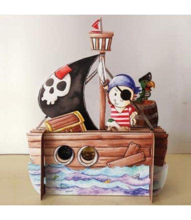 Alljoy Design   3D   Pop-up Kaart   Piraat
