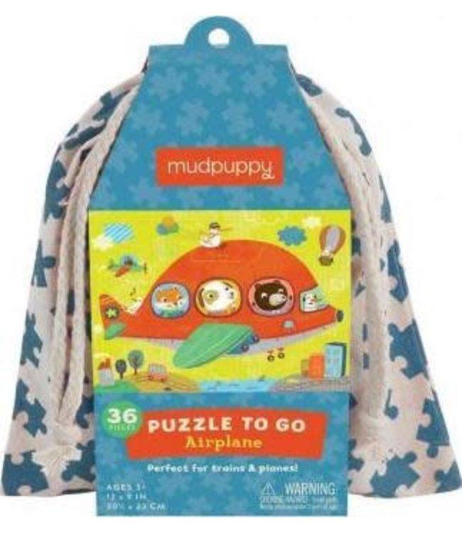Mudpuppy   Puzzle To Go   Airplane   36 pcs   3+