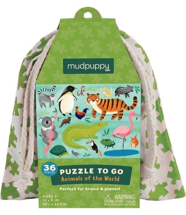 Mudpuppy   Puzzle To Go   Animals Of The World   36 pcs   3+
