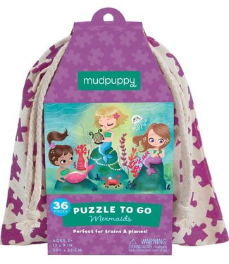 Mudpuppy Mudpuppy   Puzzle To Go   Mermaids   36 pcs   3+